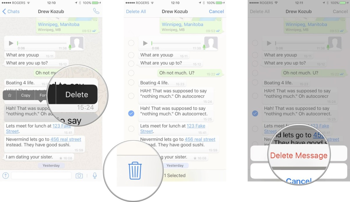 How to delete messages in WhatsApp on iPhone | WhatsApp Ultimate